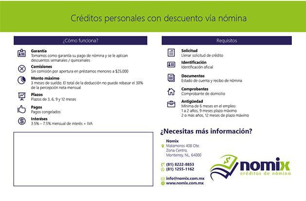 Creación de marca e identidad Nomix, créditos de nómina 3